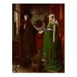 Jan van Eyck (ca. 1390-1441) The Arnolfini Portrai Postcard