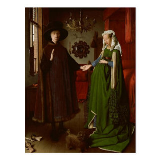 Jan van Eyck (ca. 1390-1441) The Arnolfini Portrai Postcard