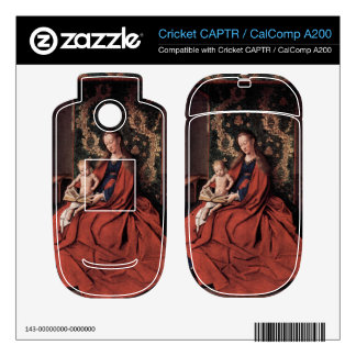 Jan Van Eyck - Madonna and child reading Decal For Cricket CAPTR