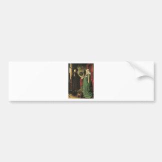 Jan van Eyck Marriage Car Bumper Sticker