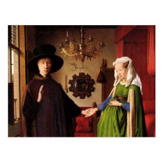 Jan Van Eyck Protrait of Giovannit Arnofini & Wife Postcard