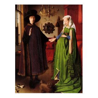 Jan Van Eyck Protrait of Giovannit Arnofini & Wife Post Card