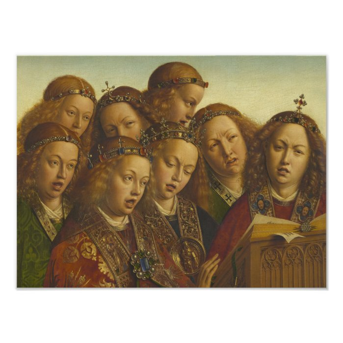 Jan van Eyck Singing angels Ghent CC0062 Poster