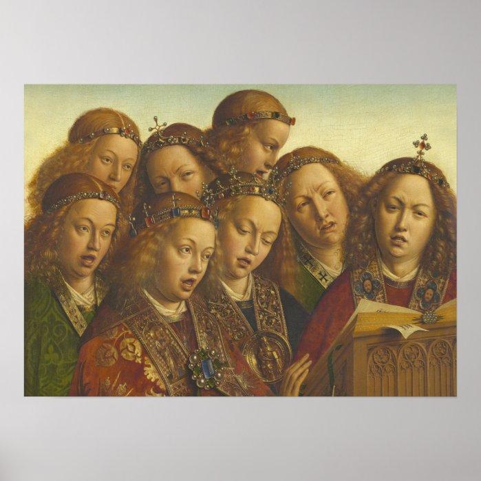 Jan van Eyck Singing angels Ghent CC0184 Poster
