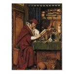 Jan van Eyck- St. Jerome in his Study Postcard