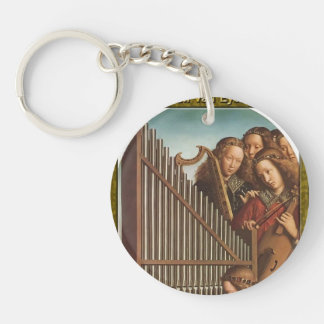 Jan van Eyck- The Ghent Altar (detail) Single-Sided Round Acrylic Keychain