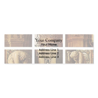 Jan van Eyck- The Madonna of Canon van der Paele Double-Sided Mini Business Cards (Pack Of 20)