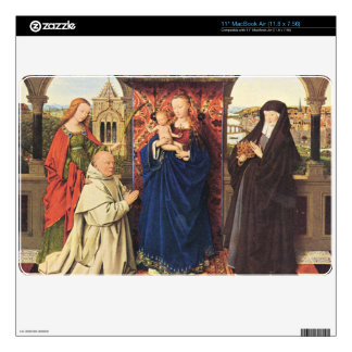 Jan Van Eyck - The Madonna with the Carthusians Decals For MacBook