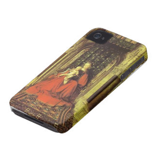 Jan van Eyck- The Virgin and Child in a Church iPhone 4 Cases