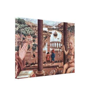 Jan van Eyck - Virgen con el canciller Rolin Impresión En Lona