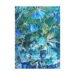 Jan van_Huijsum Vase with Flowers in Blue Canvas Prints