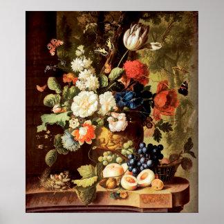 Jan van Os - Flowers Poster