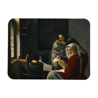 Jan Vermeer - Girl Interrupted at Her Music Magnet