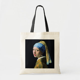 Jan Vermeer Girl With A Pearl Earring Baroque Art Budget Tote Bag