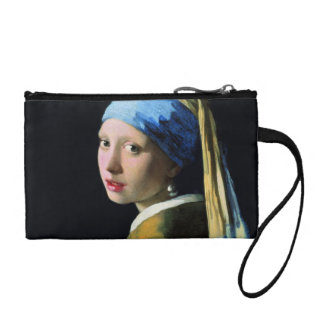 Jan Vermeer Girl With A Pearl Earring Baroque Art Coin Wallet