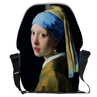 Jan Vermeer Girl With A Pearl Earring Baroque Art Courier Bag