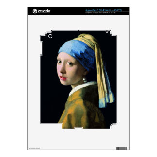 Jan Vermeer Girl With A Pearl Earring Baroque Art Decals For iPad 3