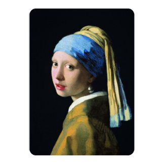 Jan Vermeer Girl With A Pearl Earring Baroque Art Personalized Invitations