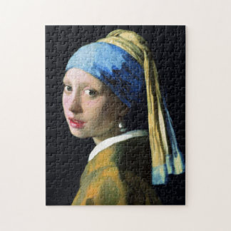 Jan Vermeer Girl With A Pearl Earring Baroque Art Jigsaw Puzzle