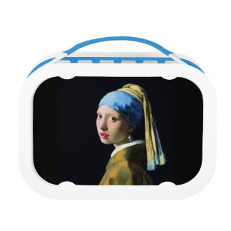 Jan Vermeer Girl With A Pearl Earring Baroque Art Lunch Box