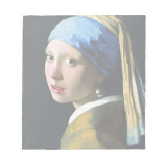 Jan Vermeer Girl With A Pearl Earring Baroque Art Notepad