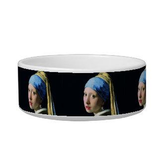 Jan Vermeer Girl With A Pearl Earring Baroque Art Pet Bowl