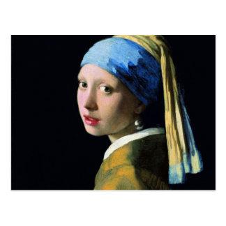 Jan Vermeer Girl With A Pearl Earring Baroque Art Postcard