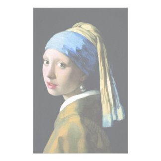 Jan Vermeer Girl With A Pearl Earring Baroque Art Stationery