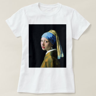 Jan Vermeer Girl With A Pearl Earring Baroque Art T-Shirt