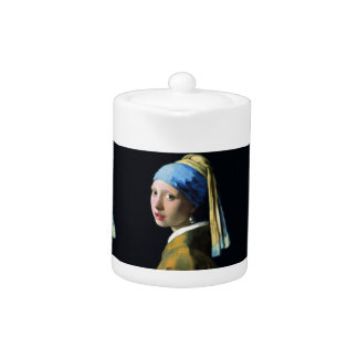 Jan Vermeer Girl With A Pearl Earring Baroque Art Teapot