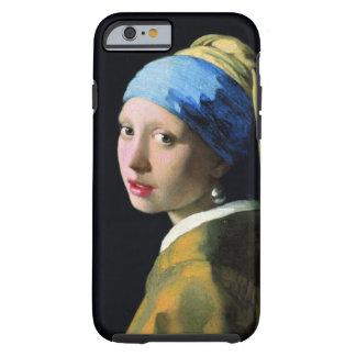 Jan Vermeer Girl With A Pearl Earring Vintage Tough iPhone 6 Case