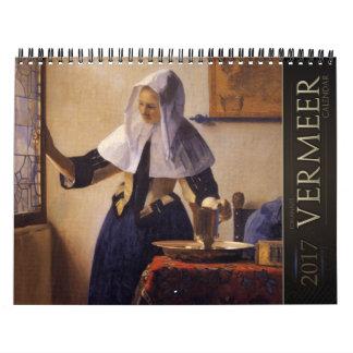 Jan Vermeer Paintings 2017 Calendar