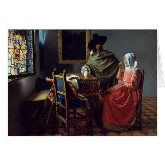 Jan Vermeer - The Glass of Wine Card