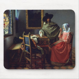 Jan Vermeer - The Glass of Wine Mouse Pad