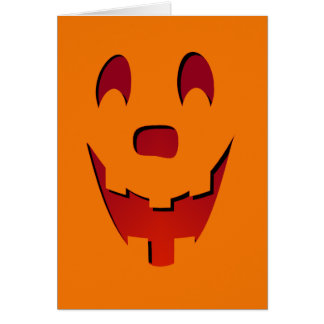 Janck-O-Lantern Halloween Card (Red)