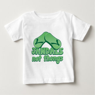 JANDALS not thongs Kiwi Aussie funny design Baby T-Shirt