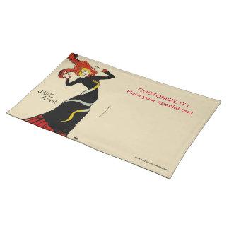 Jane April LAUTREC REDUX Edition Cloth Placemat