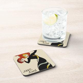 Jane April LAUTREC REDUX Edition Drink Coaster