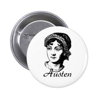 Jane Austen 2 Inch Round Button