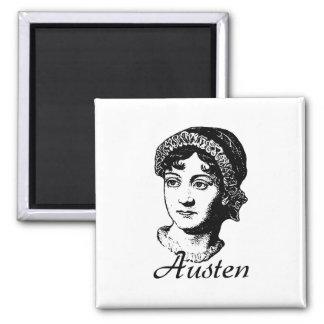 Jane Austen 2 Inch Square Magnet