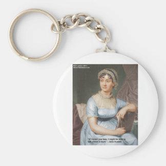 Jane Austen amó U menos cita en los regalos y las  Llavero Redondo Tipo Pin