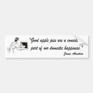 Jane Austen Apple Pies Quote Bumper Sticker