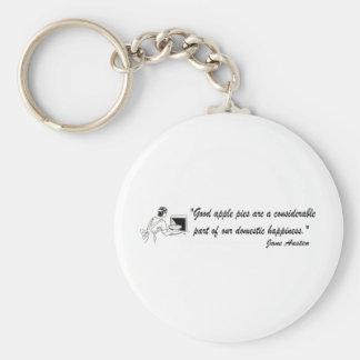 Jane Austen Apple Pies Quote Keychain