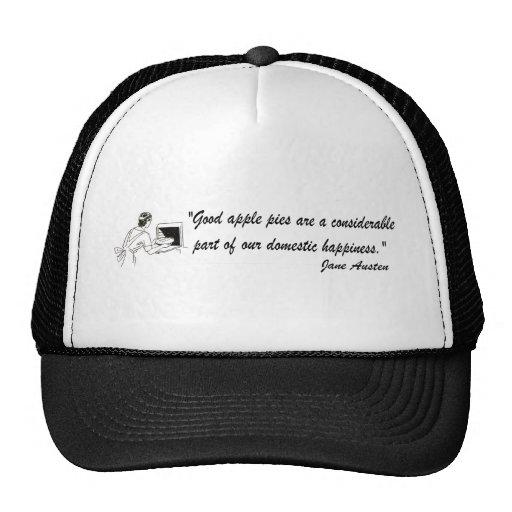 Jane Austen Apple Pies Quote Trucker Hat