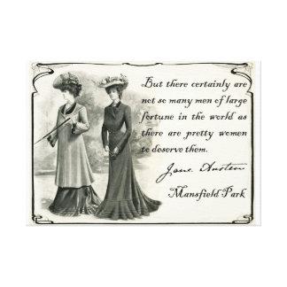 Jane Austen Arte bonito de la lona de las mujeres Lona Estirada Galerías