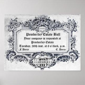 Jane Austen Bola del estado de Pemberley Impresiones