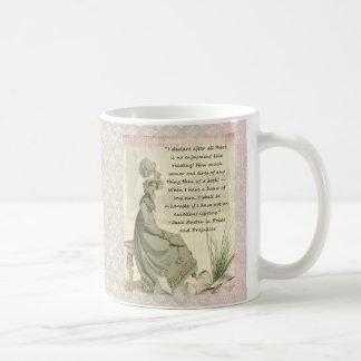 Jane Austen Book Lovers Classic White Coffee Mug