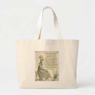 Jane Austen Book Lovers Large Tote Bag
