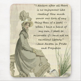 Jane Austen Book Lovers Mouse Pad