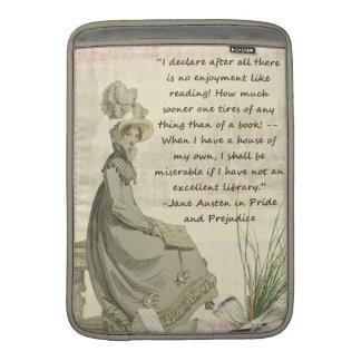 Jane Austen Book Lovers Sleeve For MacBook Air